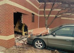 Car crashes into medical office