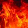 Fuel spills, causes fire