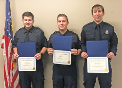 Firefighters presented with life saving award