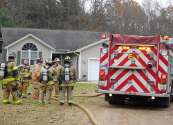 Fire department saves home