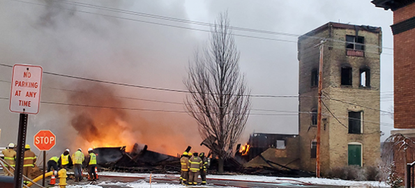 Fire destroys theater group's warehouse