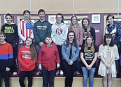 January 2020 Middle School Students of the Month