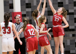 Lady Red Hawks pick up conference wins