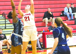 Lady Red Hawks take down league leader