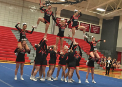 Cheer takes third at districts; advances to regionals
