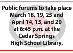 New school bond proposal and public forums