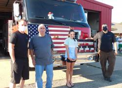 Family donates unique flag to fire department