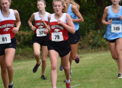 Lady Red Hawks lose meet by only one point
