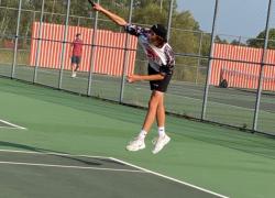Red Hawk tennis win against Ottawa Hills, Kenowa Hills
