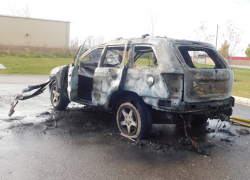 Car fire destroys vehicle