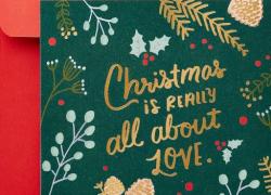 Christmas card drive