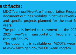 MDOT seeks public comment on 2021-2025 transportation program
