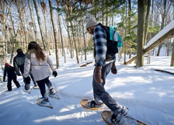 Take in Michigan's winter beauty on a pair of snowshoes