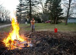 Spring wildfire danger