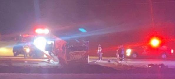 Police investigate crash with ambulance