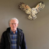 Owl sculpture donated to library