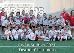 Red Hawk Girls Soccer 2021 District Champions