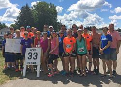Runners rest in Cedar Springs
