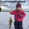Free fishing weekend this Saturday andSunday