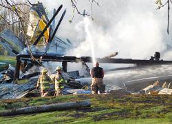 Historic barn burns