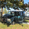 Man injured when car hits tree