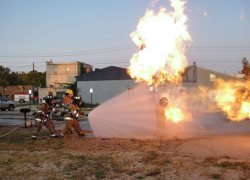 Firefighters get practice with live burn