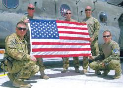 Flag flown in honor of veteran's death