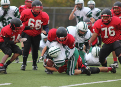 Freshmen Red Hawks score big win over Falcons