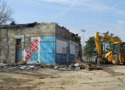 Gas station demolished