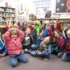 Kindergarteners push library toward goal
