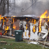 Fire ravages mobile home