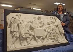 Preserving history—museum restores  1911 sculpture