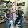 Easter bunny visits the library