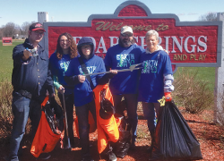 Annual cleanup beautifies creek and trail