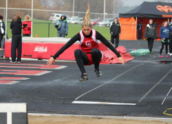 Girls Track takes fourth in dual meets