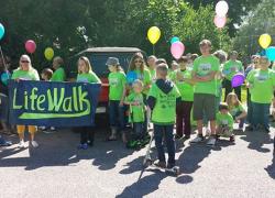 Community steps up for Lifewalk