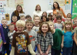 First graders get library cards