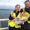 Post travels to top of Mackinac Bridge