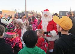 Families celebrate at Mingle with Kris Kringle