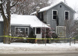Empty house catches fire, later torn down