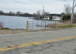 Why is there a gate on Sand Lake boat launch?