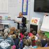 Sen. MacGregor reads to CTA students
