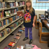 CTA students clean up library