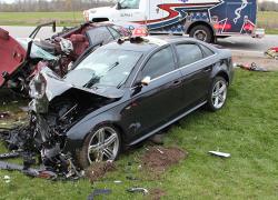 Two die in traffic crash