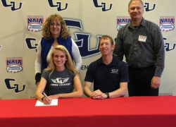 Ellie Ovokaitys signs letter of intent with Cornerstone