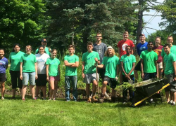 Green team upgrades rain gardens