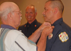 Solon Fire holds badge pinning, service awards ceremony