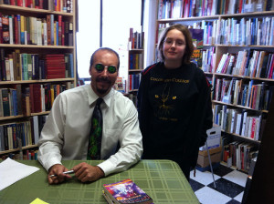 Chillers author Johnathan Rand with Arabelle Konrad.