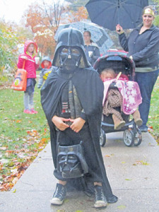 A Trick or Treater from last Halloween in Cedar Springs.