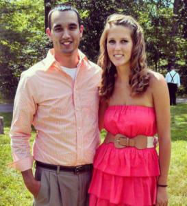 West Michigan Hawk Nick Steimel and his girlfriend, Brittney McCarthy.